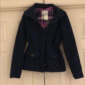 Aeropostale navy blue wool coat